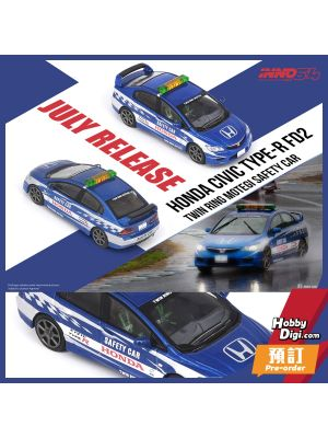 INNO64 1:64 合金模型車 - HONDA CIVIC Type-R FD2 Twin Ring Motegi Safety Car 2014