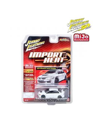 Johnny Lightning 1:64 MiJo Exclusives Diecast Model Car - 2004 Mitsubishi Lancer Evolution