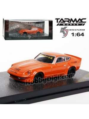 Tarmac Works KJ Miniatures 1:64 合金模型車 - LBWK FairLady S30 Metallic Orange