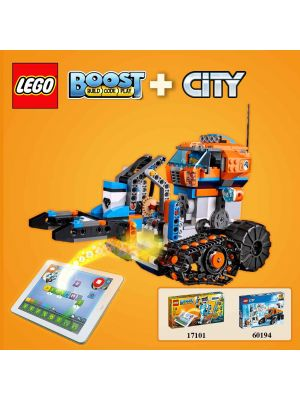 LEGO City 60194: Arctic Scout Truck with LEGO Boost 17101 Combination Set (Available for play with coding)