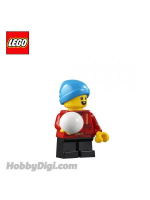 LEGO Loose Minifigure Seasonal : Child Boy with Red Shirt and Ball
