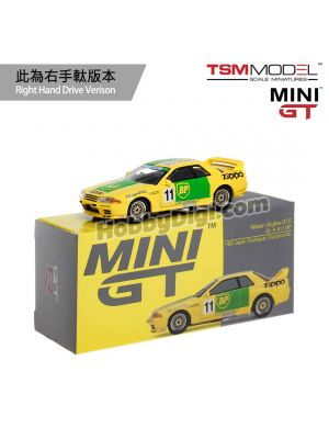 TSM 1:64 Mini GT Diecast Model Car - Nissan Skyline GT-R R32 Gr. A #11 BP 1993 Japan Touringcar Championship (RHD)