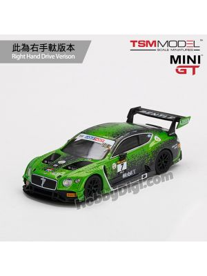 TSM 1:64 Mini GT Diecast Model Car - Bentley Continental GT3 #7 2020 Liqui-Moly Bathurst 12 Hrs Winner Bentley Team M-Sport  (RHD)