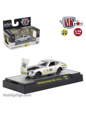 M2 Machines Mooneyes Auto Japan S3 1:64 合金車 - 1970 Nissan Fairlady Z432 Silver Metallic
