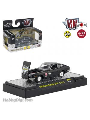 M2 Machines Mooneyes Auto Japan S3 1:64 Diecast Model Car - 1970 Nissan Fairlady Z432 Gloss Black