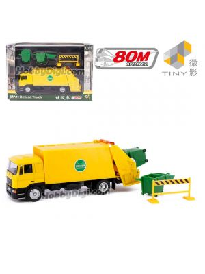 Tiny X 80M 1:64 Diecast Model Car - MAN Refuse Truck