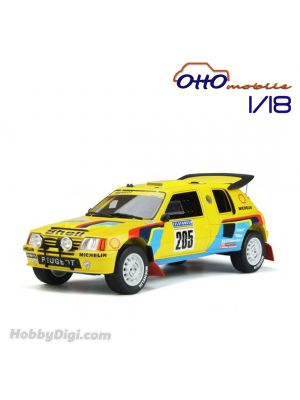 OttO Mobile 1:18 Resin Model Car - Peugeot 205 Grand Raid Dakar #205 Ari Vatanen