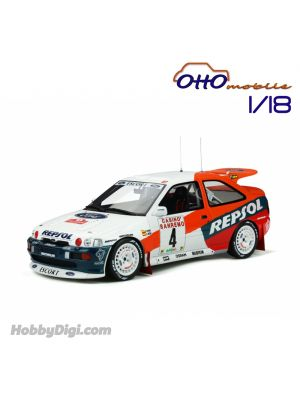 OttO Mobile 1:18 樹脂模型車 - Ford Escort Cosworth Gr.A San Remo #4 Sainz