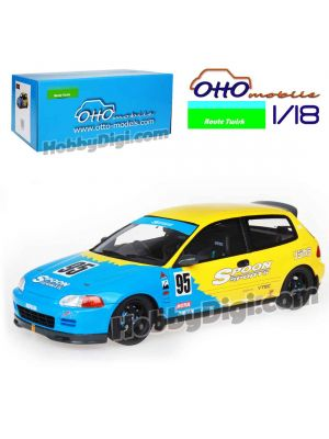 OttO Mobile X Route Twisk 1:18 樹脂模型車 - Honda Civic EG6 SPOON SPORTS EDITION