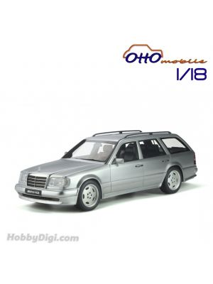OttO Mobile 1:18 樹脂模型車 - Mercedes-Benz S124 E36 AMG Brilliant Silver