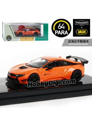 Paragon PARA64 1:64 合金模型車 - Liberty Walk BMW i8 橙 (左手軚)