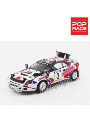 POP Race 1:64 Diecast Model Car - Toyota Celica GT-Four ST185 Safari Rally 1994 Winner #3 Ian Duncan/ David Williamson