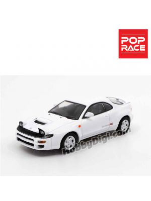 POPRACE 1:64 Diecast Model Car - Toyota Celica GT-Four ST185 Super White