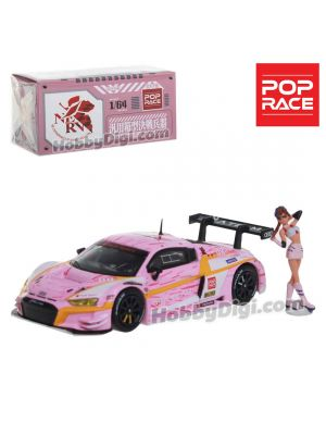 POP Race 1:64 限量版合金模型車 - Audi R8 LMS EVA RT Production Model Custom Type-08 X Works with Mari Makinami Figure
