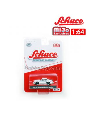 Schuco X Mijo Exclusive 1:64 Diecast Model Car - Porsche 911 ( 930 ) Turbo White