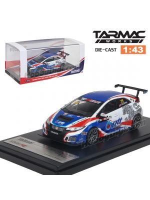 Tarmac Works 1:43 Diecast Model Car - Honda Civic Type R TCR FK2 TCR Asia 2017 Tin Sritrai