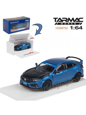 Tarmac Works HOBBY64 模型車 - Honda Civic Type R FK8 Blue with Black Bonnet Tuned By SPOON