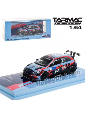 Tarmac Works HOBBY64 1:64 合金模型車 - Hyundai i30 N TCR WTCR 2019 With decal, No. 1 Tarquini & No.5 Michelisz