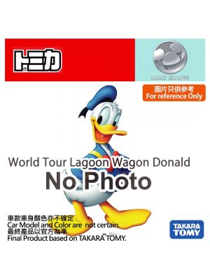 Tomica Disney Motors Diecast Model Car - World Tour Lagoon Wagon Donald