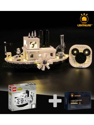 Lightailing Light Kit + LEGO Ideas 21317: Steamboat Willie