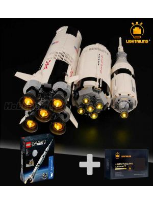 Lightailing Light Kit + LEGO Ideas 92176 :  NASA Apollo Saturn V  (Bundle Set)