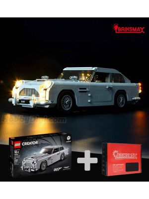 Briksmax Light Kit + LEGO Creator 10262 : James Bond Aston Martin DB5 (Bundle Set)