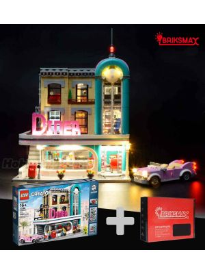 Briksmax Light Kit + LEGO Creator 10260 : Downtown Diner (Bundle Set)