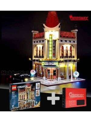 Briksmax Light Kit + LEGO Creator 10232 : Palace Cinema (Bundle Set)