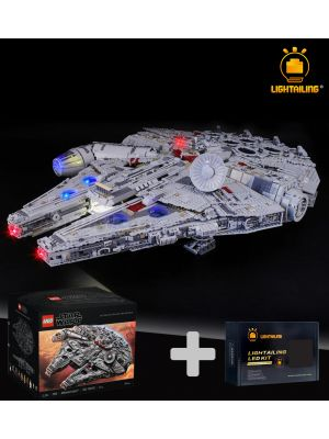 Lightailing Light Kit + LEGO Star Wars 75192 : Ultimate Millennium Falcon (Bundle Set)