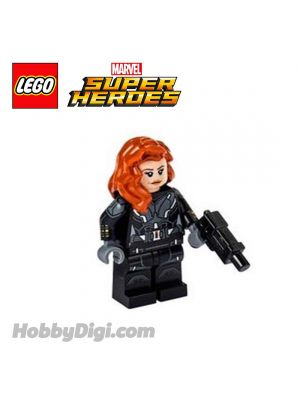 LEGO Loose Minifigure Marvel : Black Widow with Printed Arms and Gun