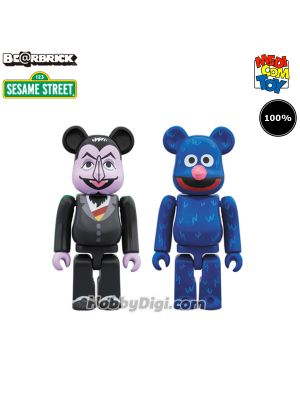 Medicom Toy Be@Rbrick - Count Von Count & Grover 100% 2 Pack