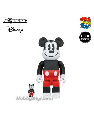 Medicom Toy Be@Rbrick - Mickey Mouse (Red & White 2020Ver.) 100% & 400%