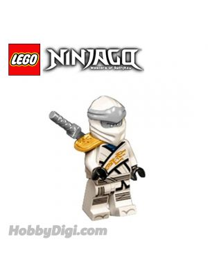 LEGO Loose Minifigure Ninjago : Zane with Pearl Gold Suit