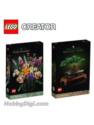 LEGO  Creator 10280 -10281 : Flower Bouquet | Bonsai Tree