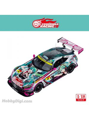 Good Smile Racing 1:18 Resin Model Car - Good Smile Hatsune Miku AMG 2020 SUPER GT Okayama Test Ver. GSC Online Exclusive Edition