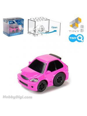 Tiny Q Pull Back Diecast Model Car - Honda Civic EK9 Kandy Pink