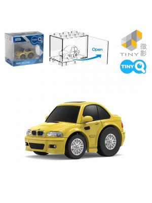 Tiny Q Pull Back Diecast Model Car Pro-Series 05 - BMW M3 E46 (Phoenix Yellow)