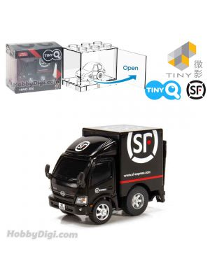 Tiny Q Pull Back Diecast Model Car - Toyota Hiace SF Express