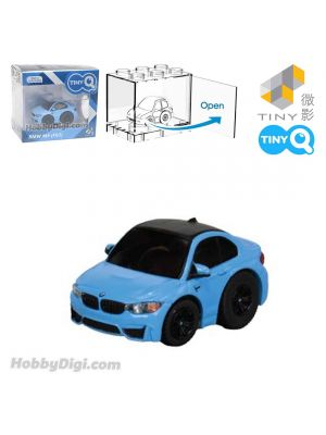 Tiny Q Pull Back Diecast Model Car - BMW M4 F82 (Yas Marina Blue)