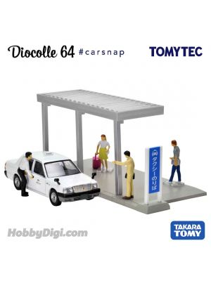 TOMYTEC Tomica Limited Vintage NEO Diecast Model Car - Diocolle 64 #04a Bus Stop/ Taxi Stop