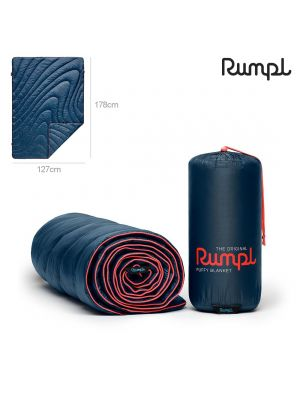 Rumpl Original Puffy Blanket Throw (Deepwater Blue)