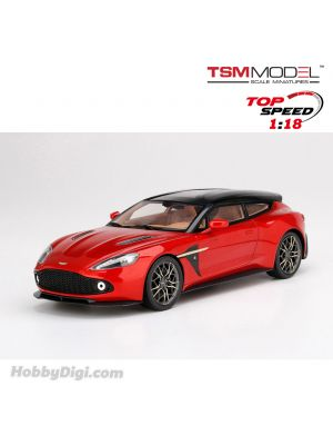 TSM 1:18 Top Speed Resin Model Car - Aston Martin Vanquish Zagato Shooting Brake Lava Red