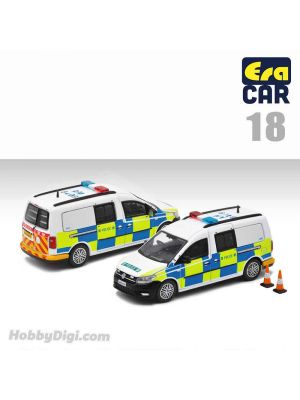 Era Car 1:64 合金車 - 18 Volkswagen Caddy Maxi - HK Police (AM8409)