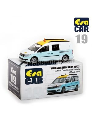 Era Car 1:64 Diecast Model Car - 19 Volkswagen Caddy Maxi - Airport Construction Vehicle
