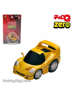 Tomica ChoroQ Zero Pull Back Diecast Model Car - Z-67b Ferrari F50 (Yellow) Closed