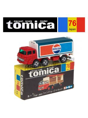 Tomica Retired Black Box Made in Japan Diecast Model Car No76 - Fuso Wing Roof Truck