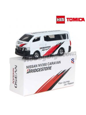 Tomica Second Creation Diecast Model Car - Nissan NV350 Caravan Bridgestone