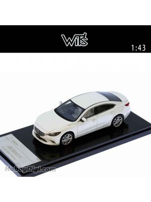 WIT'S 1:43 Diecast Model Car - Atenza Sedan 25S L Package (Snowflake White Pearl Mica)