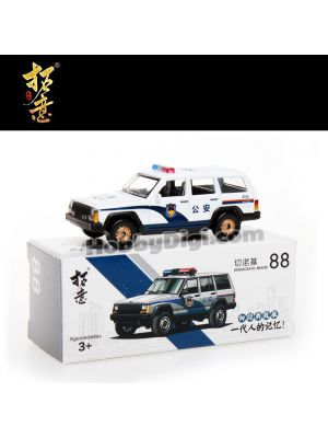 Xcartoys 1:64 Diecast Model Car - No88 Beijing Jeep 213 Cherokee Police Car