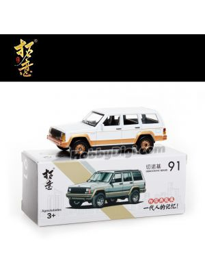 Xcartoys 1:57 Diecast Model Car - No91 Cherokee (White Civilian)